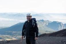 Milton subindo o vulcão Villarica