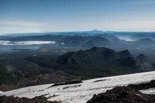 Vista do vulcão
