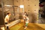 Felipe, Sofia e Caio, Museu interativo Mirador, Santiago do Chile