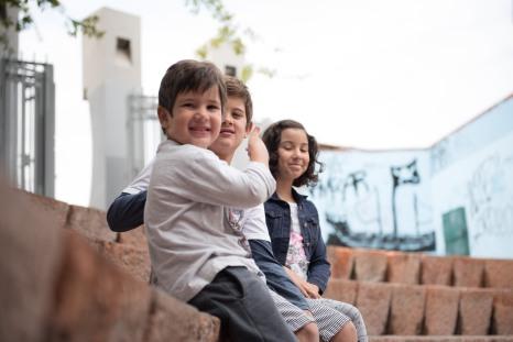 Felipe, Sofia e Caio, La Chascona, Santiago do Chile