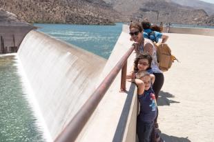 Lu, Caio e Sofia, represa no caminho para Pisco Elque, Chile