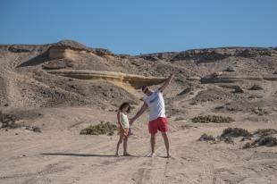 Milton e Sofia, praia La Virgem, Chile