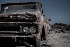 Camionete Ford, Praia La Virgem, Chile