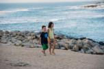 Sofia e Caio, praia La Virgem, Chile