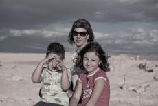 Lu, Caio e Sofia na Pedra do Coiote