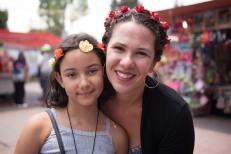 Eu e Sofia em Xochimilco