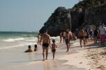 Ruínas de Tulum - praia