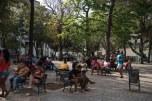 Praça com acesso ao wi fi