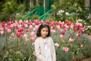 Sofia no jardim de Monet