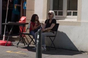 Sofia e Bel em pausa para o sorvete