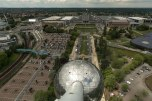 Vista de dentro do Atomium