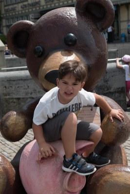 Caio no centro de Berna