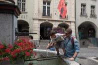 Caio e Paulo no centro de Berna