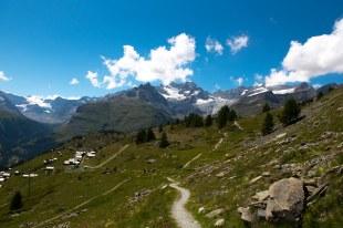 Trilha em Zermatt