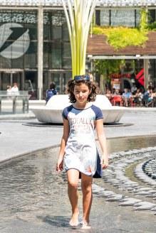 Sofia desfilando em Milão