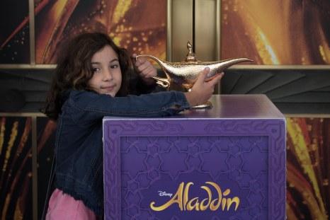 Entrada do espetáculo Aladdin em Piccadilly Circus