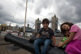Caio e Sofia na London Tower