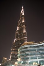 Vista do Burj Khalifa de fora