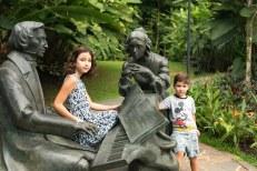 Caio e Sofia no Jardim Botânico