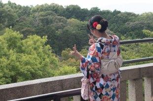 Menina de Kimono em Kyoto
