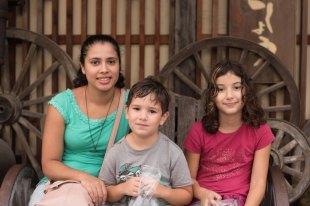 Fernanda, Caio e Sofia em Hiroshima