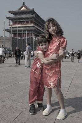 Meus chinesinhos entrando na Cidade Proibida