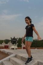 Sofia num jardim de Beijing