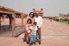 Nós e o nosso guia em Agra