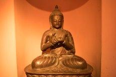 Buda do museu em Darbar Square