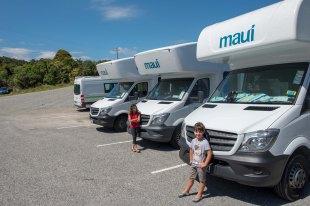 No estacionamento da Mauí pegando o Motohome